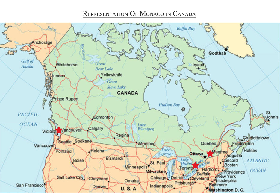 Emby of the Principality of Monaco to Canada and the ... United States Map Toronto Ontario on ontario real estate map, ontario counties map, ontario travel map, ontario election map, ontario idaho map,